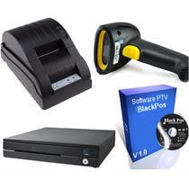 Kit Punto Venta Impresora + Cajón + Lector Laser + Software