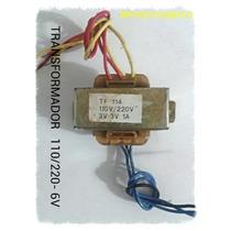 Transformador 115/230v 6vca- 1 Amp