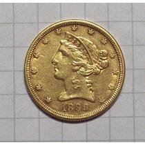 Estados Unidos 5 Dolares 1899 S Oro Excelente 8,4gms