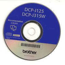 Cd De Instalação Para Impressora Brother Dcp-j125/dcp-j315w.