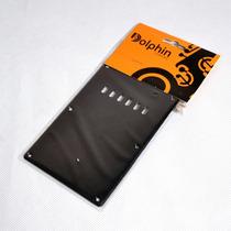 Escudo Traseiro Preto P/ Guitarra Strato - Dolphin