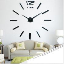Reloj De Pared Espejo 3d Decoracion Sala Comedor O Cocina