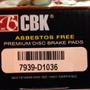 Pastillas De Freno Cbk Traseras Para Optra Limited