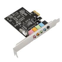 Placa De Som Pci-express Com 5 Canais Chipset Asmedia
