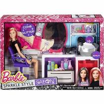 Brinquedo Boneca Barbie Salão Estilo E Brilho Dtk04