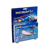 Model Set Boeing 747-200 1/390 Miniatura Revell Rev64210