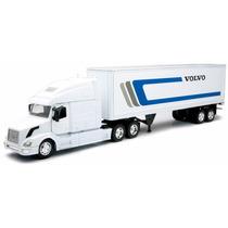 1:32 Trailer Volvo Blanco Vnl780 Caja Seca 40 Pies A Escala