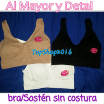 Bra Brasieres Top Dama Sin Costura Sosten Deportivo Airbra