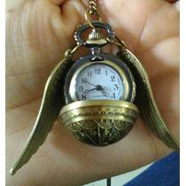 Harry Potter Collar Reloj Snitch Dorada Quidditch Hogwarts