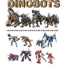 Kit 4 Transformers Dinobots Grimlock,scorn,strafe E Slug