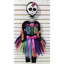 Disfraz Tutu Calaca Multicolor Esqueleto Muerte Halloween