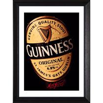 Cuadros Cerveza Guinness! Marco Madera+vidrio+foto! Pub