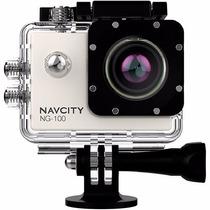Câmera Esportiva Navcity 12mp Full Hd 30m Água Selfie Stick
