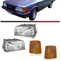 2 Farol Opala Caravan + 2 Lanterna Pisca Ambar 88 89 90 A 92