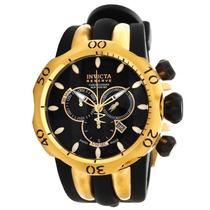 Relógio Invicta Reserve Venom 10833 Preto/gold 18k +caixa.