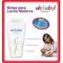 Bolsas Almacenamiento Leche Materna - Uhbaby! X 25 Unidades