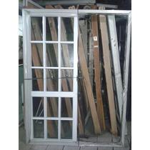 Ventana Aluminio Blanco 150x200 Vidrio Repartido, Corrediza