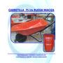 Carretilla 75 Lts Rueda Maciza