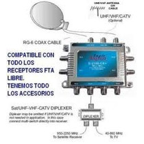 6 Multi X 8 Salidas + 6 X 4 Salidas Tv Satelital Fta Directv