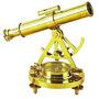 Telescopio Con Brujula De Bronce (pieza Decorativa)