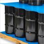 50 Laminas Azules De Plastico Corrugado Para Tarimas 121x243