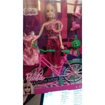 Boneca Barbie Musical Com Bicicleta + Patins+acessórios