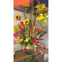 Arreglo Con Rosas - Girasoles - Flores De Ocasión