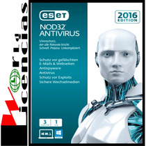 Eset Nod32 Antivirus V9 Licencia Original 1 Año X 3 Pc