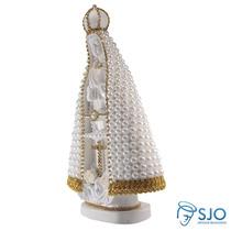 Nossa Senhora Aparecida Em Pérola Branca - 30 Cm
