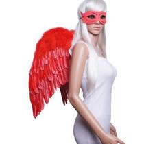 Fashionwings (tm) Red Wings De Plumas Y Traje De Ángel Halo