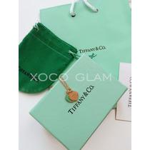 Tiffany Collar De Corazón Oro Rosado Con Bolsa Y Certificado