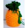 Bolsa Feminina Croche Crochê Crochet Abacaxi Verão Retrô