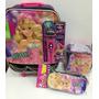 Mochila Barbie Com Microfone Kit Completo Lancheira + Estojo