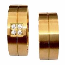 Alianças Banhada Ouro 18k Casamento Ou Noivado!