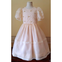 Vestido Comunion Bautismo Importado Nena 8-9 Años Usa