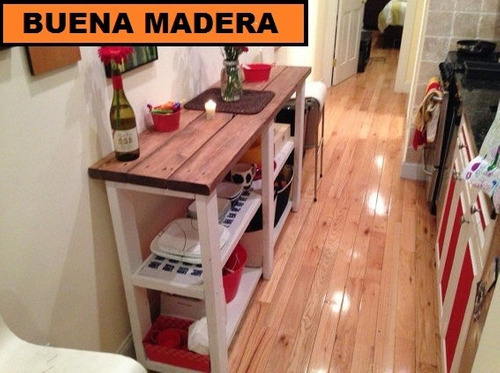 Isla Para Cocina, Rustica Mesa Auxiliar// Buena Madera - $ 4.900,00 ...