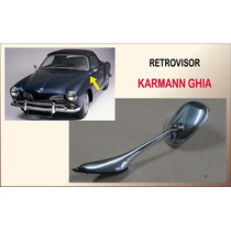 Retrovisor Karmann Ghia Aluminio Novo Cromado Unitário