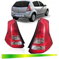 Lanterna Traseira Sandero 2012 2013 2014 2015 Bicolor