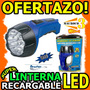 Wow Linterna 15 Led Recargable 110v Adapta A La Mano Unicas