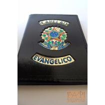 Porta Documentos Em Couro Capelão Evangélico República P44p
