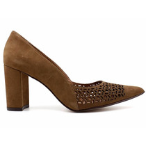 Sapato Scarpin Feminino Steffani Nobuck 64823 Loja Pixolé