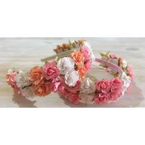 Vincha Con Flores De Papel !!