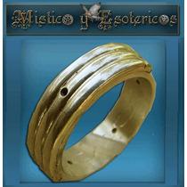 Anillo Atlante En Oro 18 Kt.artesanal Ancho 6 Mm Modelo 05