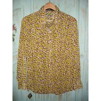 Camisa De Gasa Mujer, Animal Print, Marca Wupper