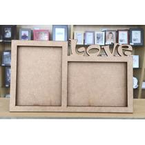 Porta Retrato Mdf Amor Decoração 2 Fotos Kit 60 Pçs Atacado
