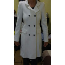 Tapado Zara Talle S Color Crema Blanco