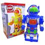 40un Robo Power Robot Som Luz A Pilha A:24.5xl:15cm Atacado