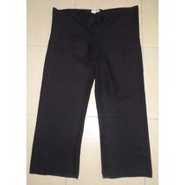 Merona Sexy Pantalon Negro Tela Transparente Talla L/ Xl