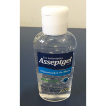Álcool Gel 70% Asseptgel Higienizador De Mãos 52g