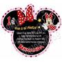 Diseño De Invitación Mimi Minnie Mouse En Silueta Fiesta 6